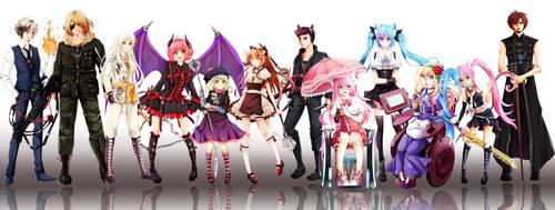 F/W full cast! by kitsuneonwheelz