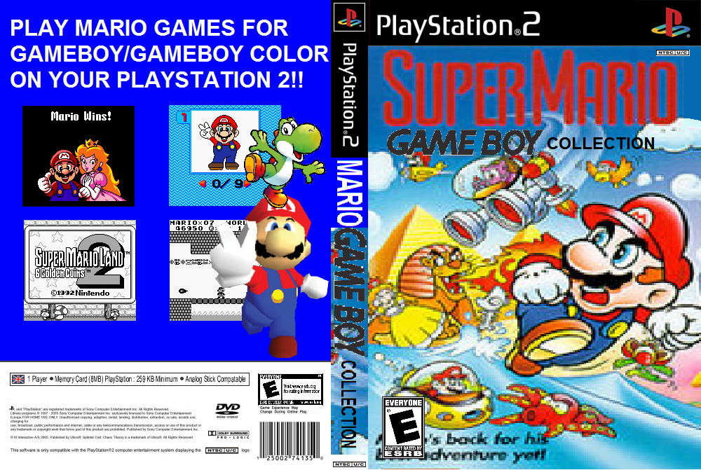 Super Mario Game Boy Collection PS2 Cover + ISO by