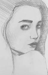 Woman Face Sketch by erika-lancaster85