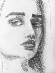 Female Portrait Sketch by erika-lancaster85