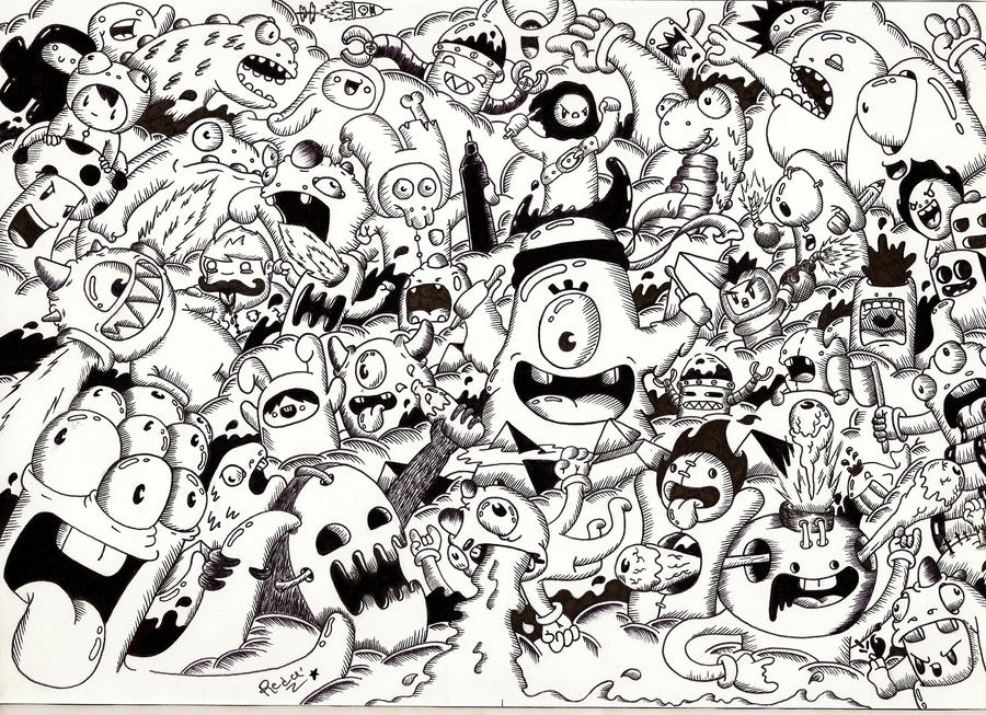 Doodle: Random Doodle #9 (Monster invasion) by RedStar94 ...