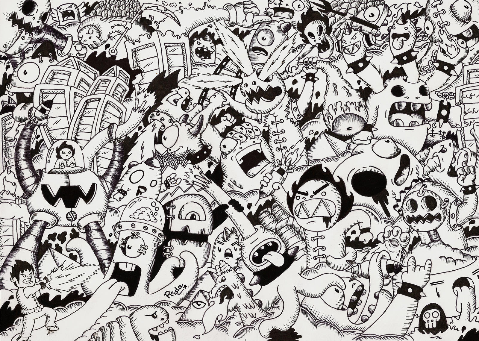 Doodle war by RedStar9...