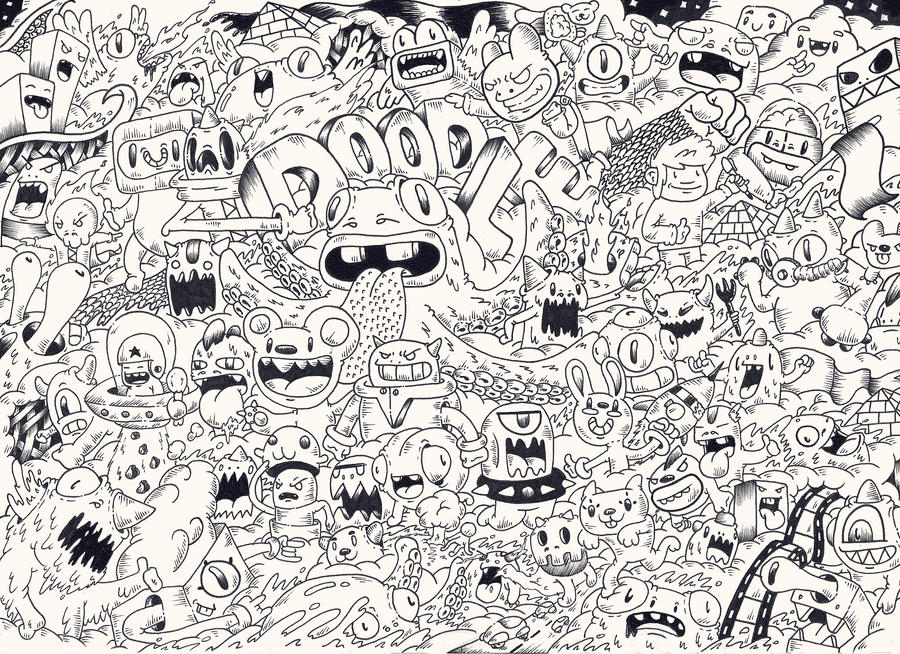 Doodle doodleized monsters by redstar94 on deviantart for Doodle art monster