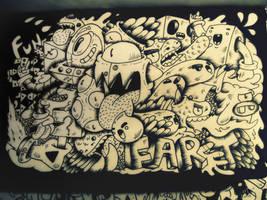 Moleskine doodle by RedStar94