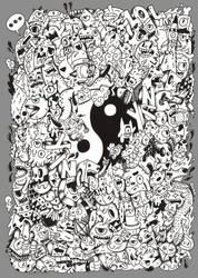Yin Yang Doodle design by RedStar94