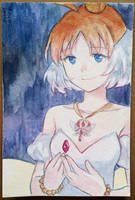 Princess Tutu watercolor postcard by lastyINpixiv