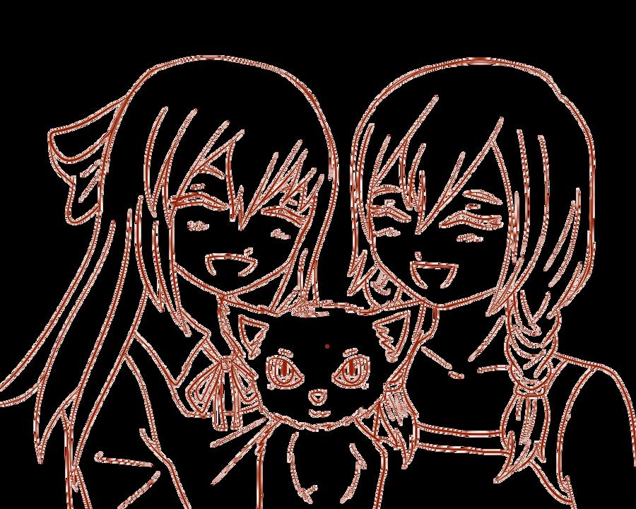anime boy outline body: Ellen And Viola Outline By GredellElle On DeviantArt