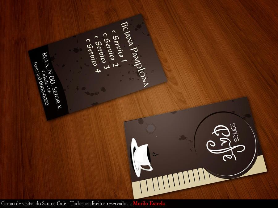 Business card cafe santos by muriloestrela on deviantart business card cafe santos by muriloestrela colourmoves