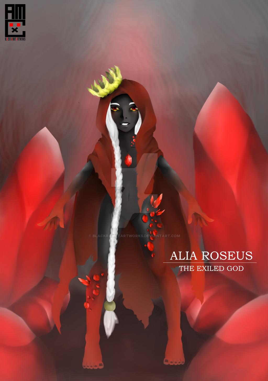 Alia Roseus - Exiled God by blackrabbitartworks