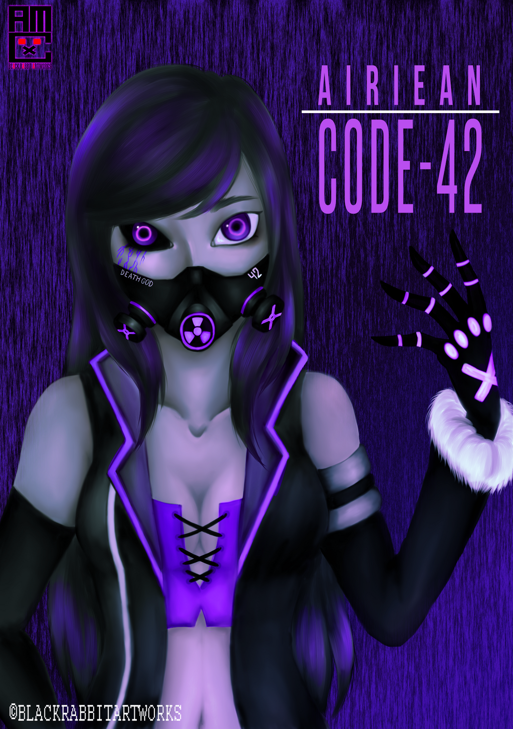 Contest entry - Airiean (Android/False God AU) by blackrabbitartworks