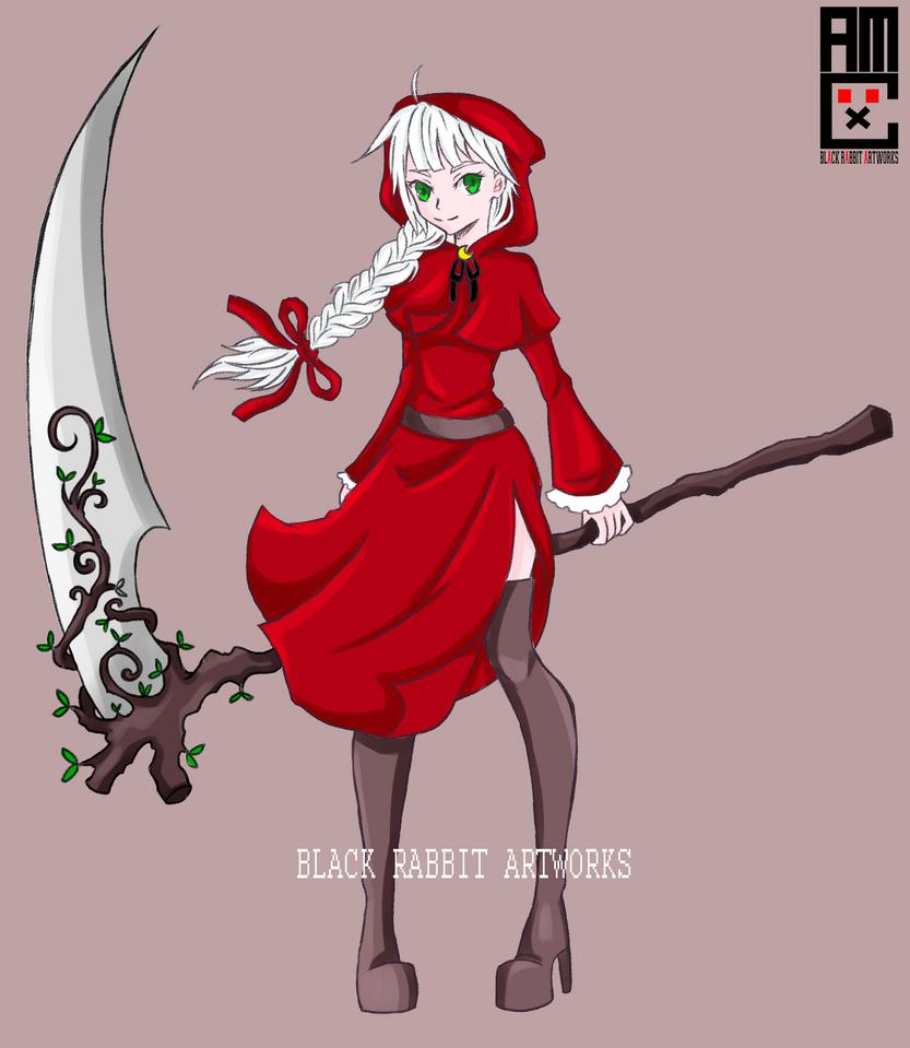 Red Hooded Reaper by blackrabbitartworks