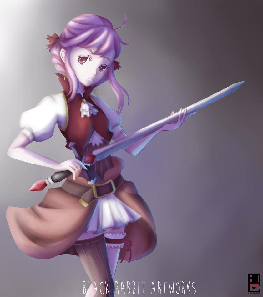 Swordmaiden by blackrabbitartworks