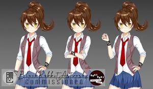 DDLC: Cinnamon Girl - FemMC Uniform Version2