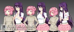 Yuri Natsuki Clothes Swap