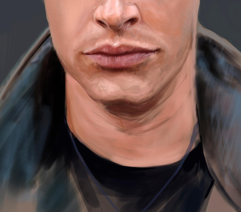 Portrait practice - jensen ackles by Fayerin