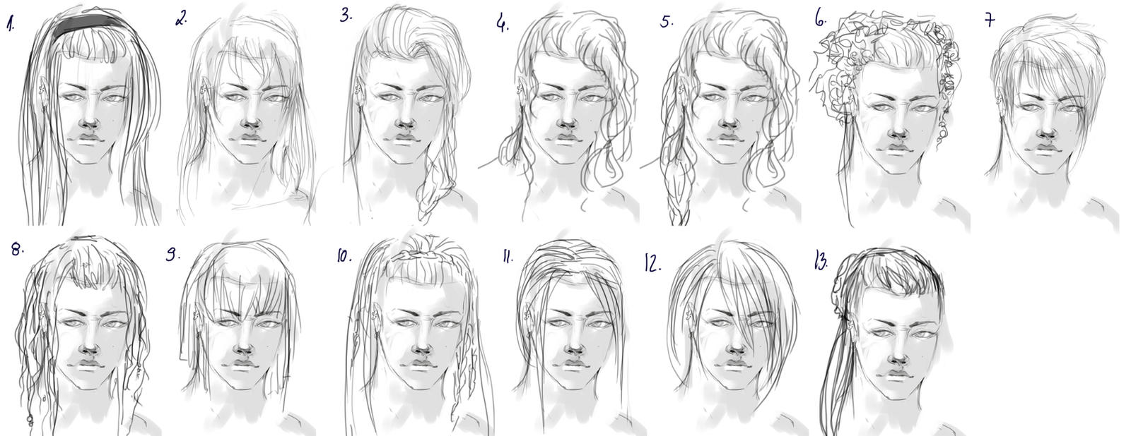 hairstyle sketch by fayerin on deviantart