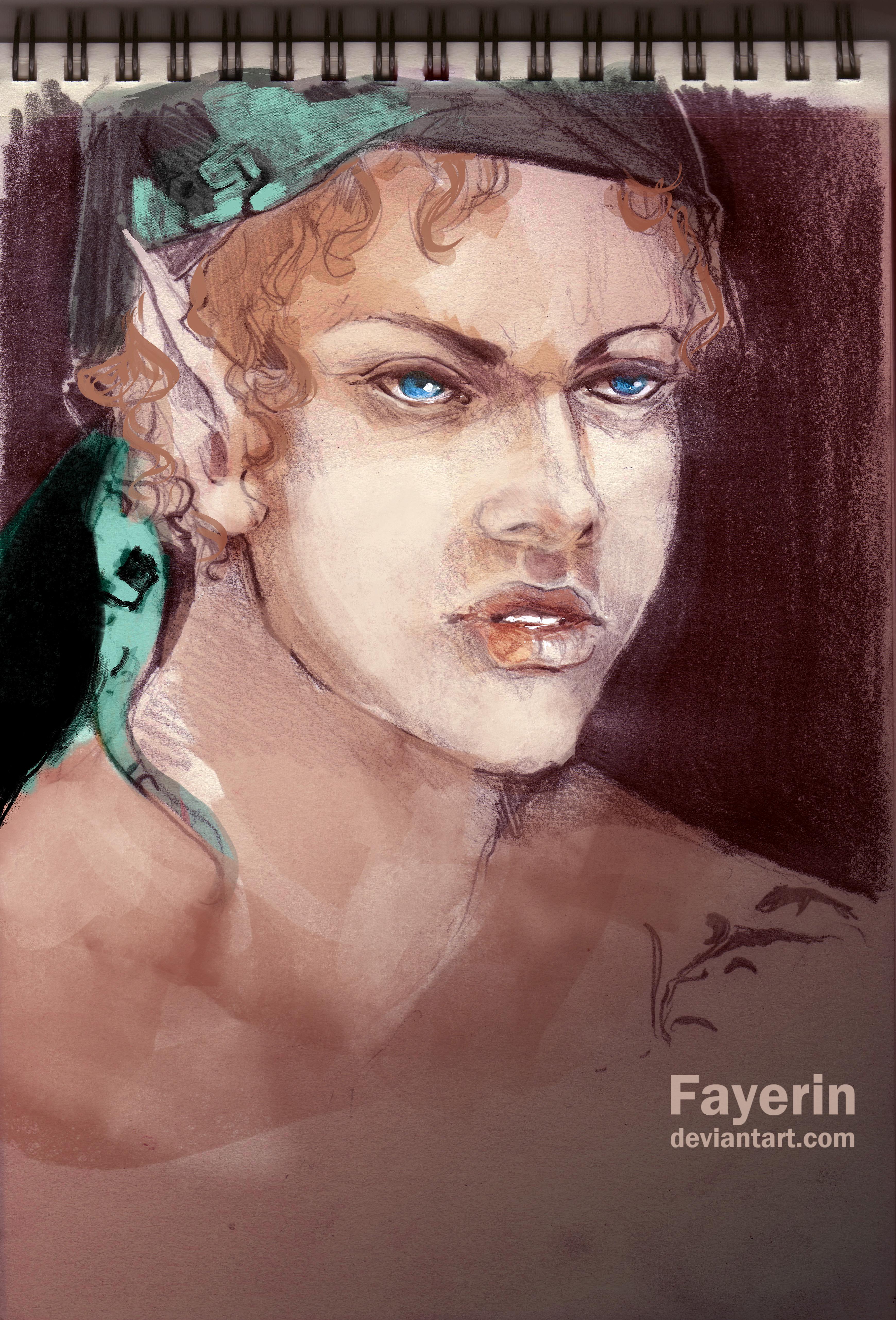 Laura Sketch by Fayerin