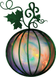 Colorful Pumpkin Lantern
