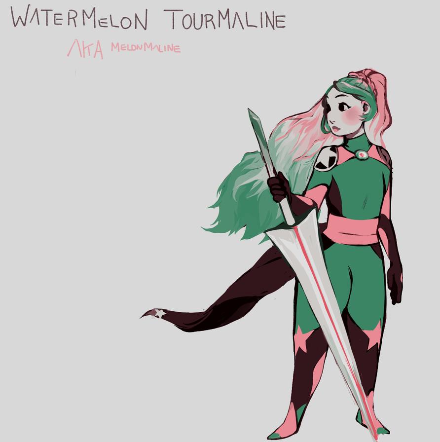 Watermelon tourmaline by akaimoon33