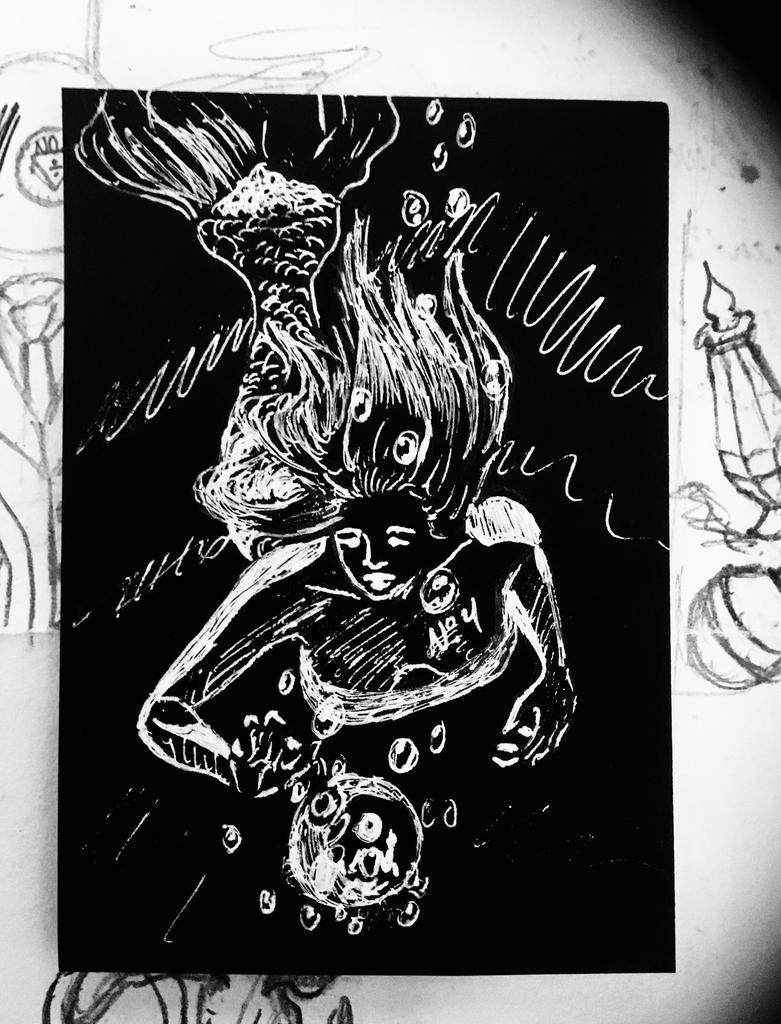 INKTOBER DAY 4: Underwater by XxJennaKittyxX