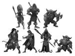 Fantasy Grayscale Chars