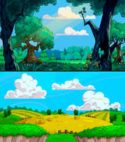 Fluffy Backgrounds by SC4V3NG3R