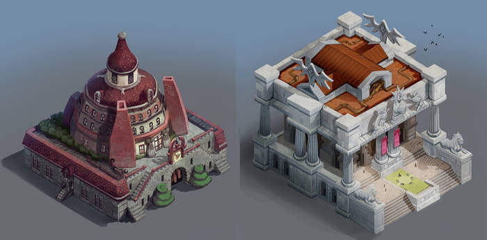 City of Gears: Mansion and Library by SC4V3NG3R