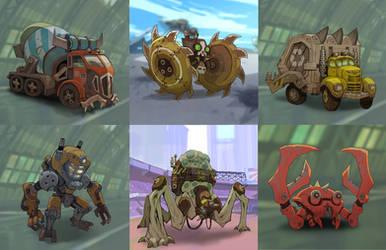 Dieselpunk Derby Demolition: Combattants