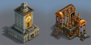 City of Gears: Town Hall and Research by SC4V3NG3R