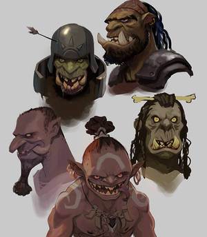 Orc Busts