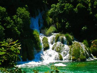 Waterfall of Krka 2 by Moonbird9