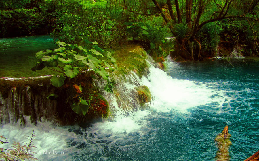 Small Waterfall by Moonbird9
