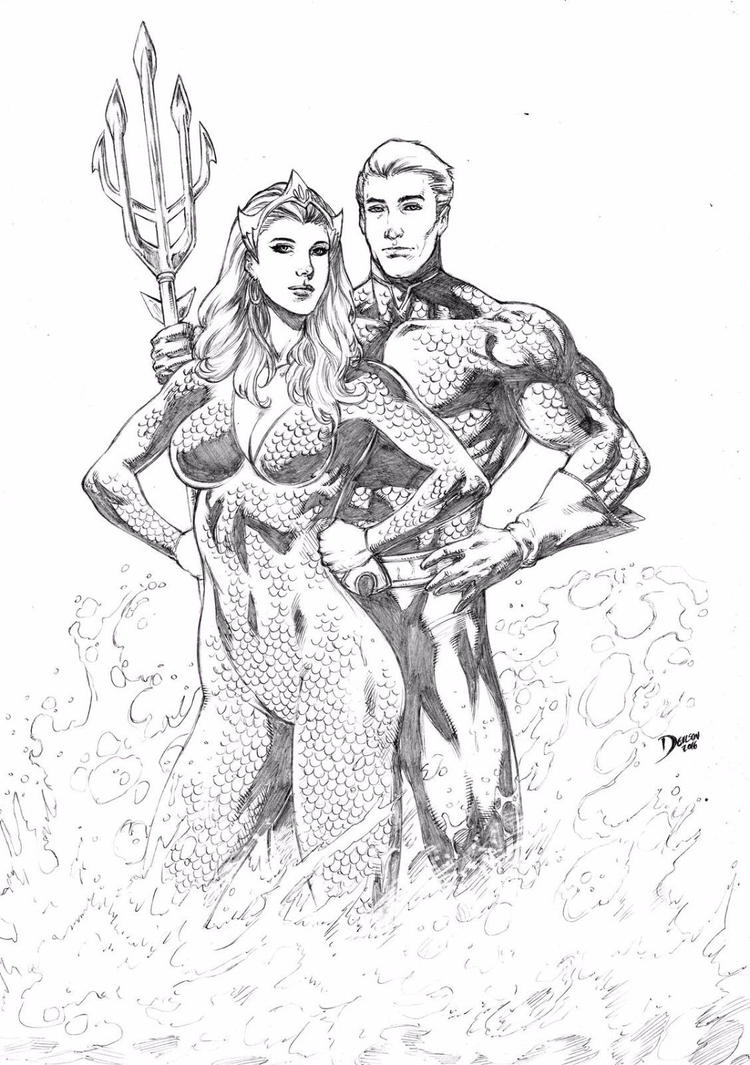 Mera/ Aquaman By Deilson On DeviantArt