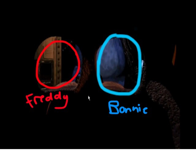Freddy s eyeball doesn t fit unlike bonnie s now