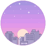 F2U Pixel City Sunrise Bubble by Stardust-Specks