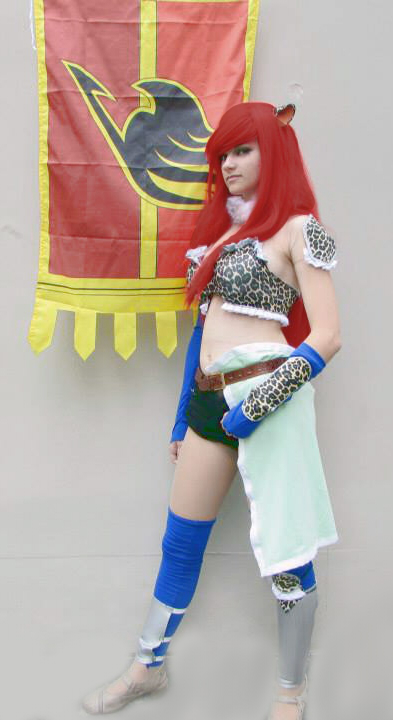 erza scarlet flight armor fairy tail cosplay by