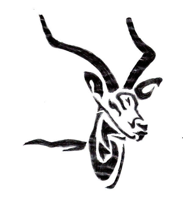 Gazelle head drawing - photo#26