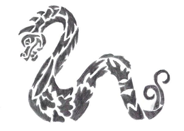 serpent tribal by thodragonfire on deviantart