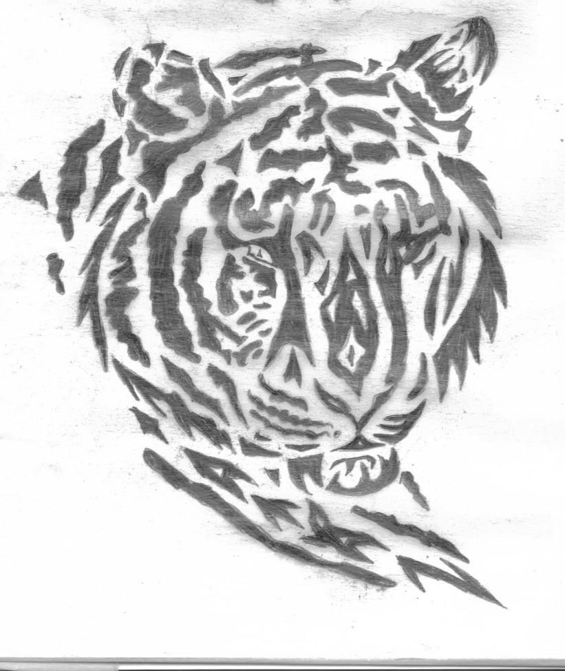 Tribal Tiger By Ruttan On Deviantart: Tiger Tribal By Boarfeathers On DeviantArt