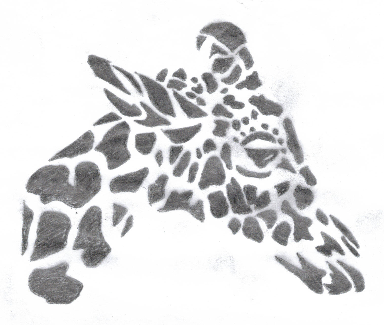 Tribal giraffe tattoo - photo#49