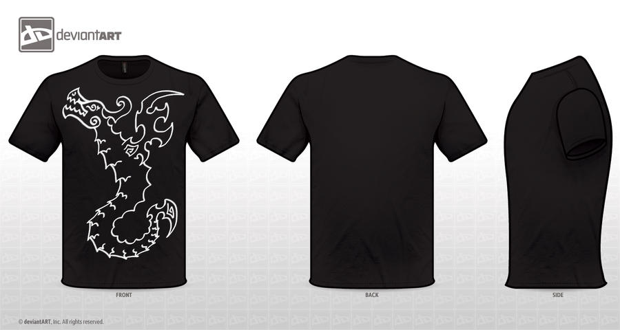 black dragon t shirt design by TerriFi on DeviantArt