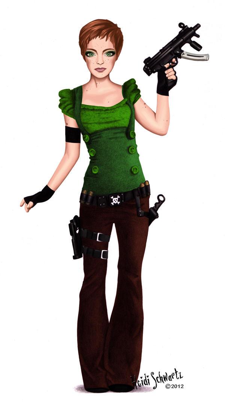 Modern Warrior Tinkerbell Character Concept Art