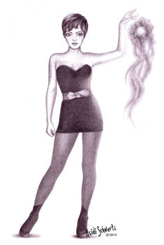 Superhero Tinkerbell Character Concept Drawing
