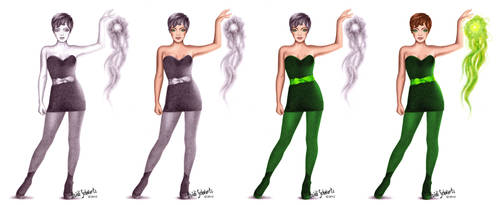 Superhero Tinkerbell Character Concept Progression