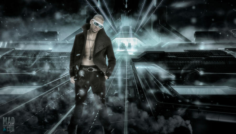 Chris Brown Background Plate For Mixtape Cover By