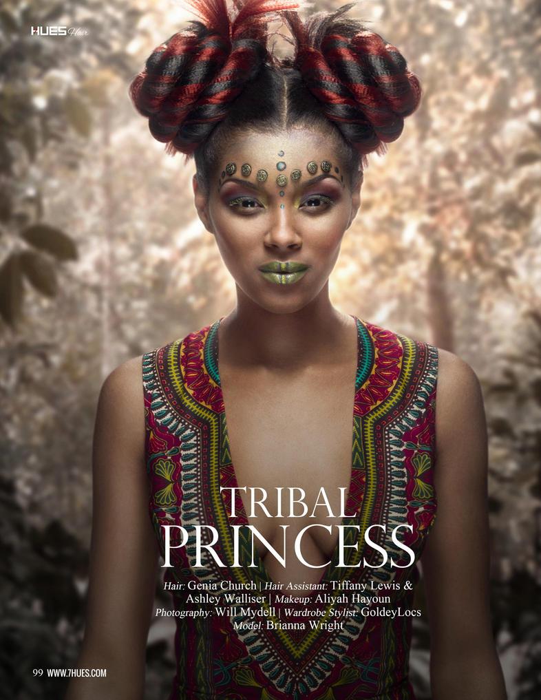 Tribal Princess for 7hues Mag by MadSDesignz