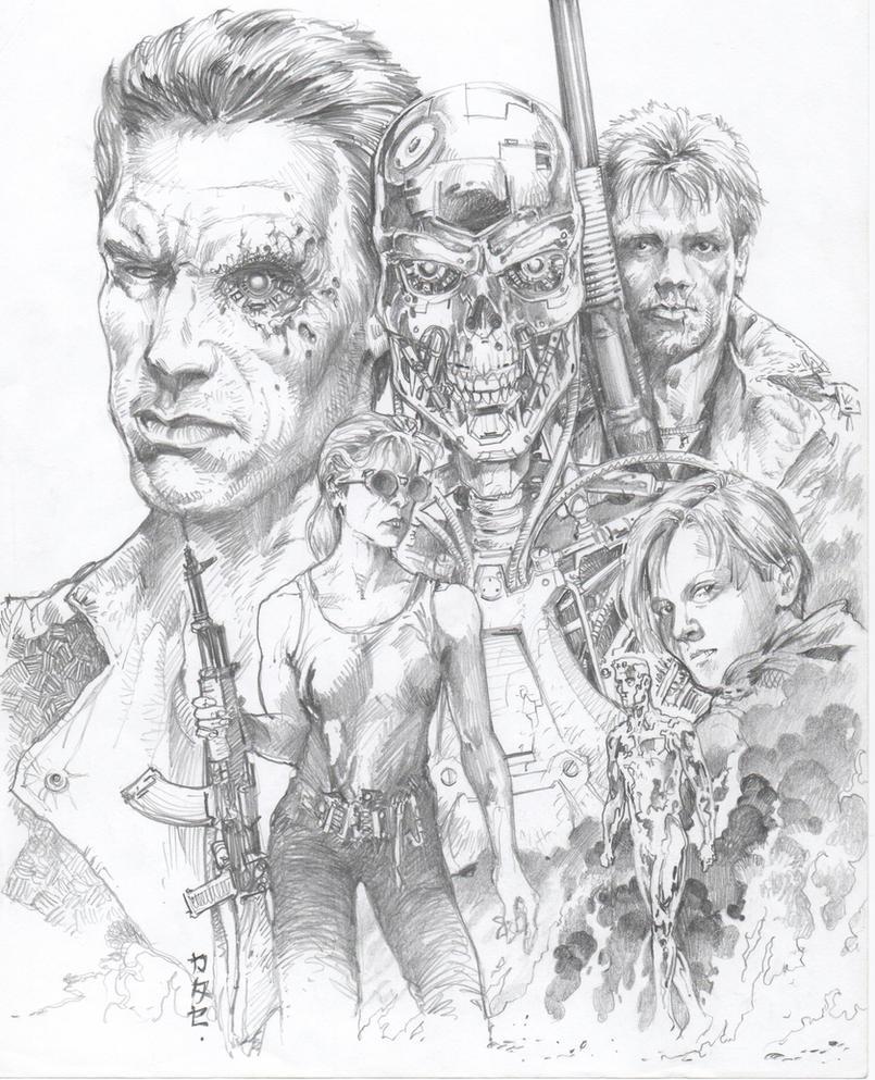 Terminator 2: Judgement Day Sketch by Katase6626