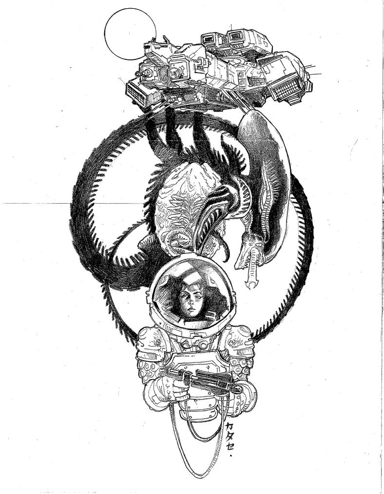 ALIEN Sketch by Katase6626