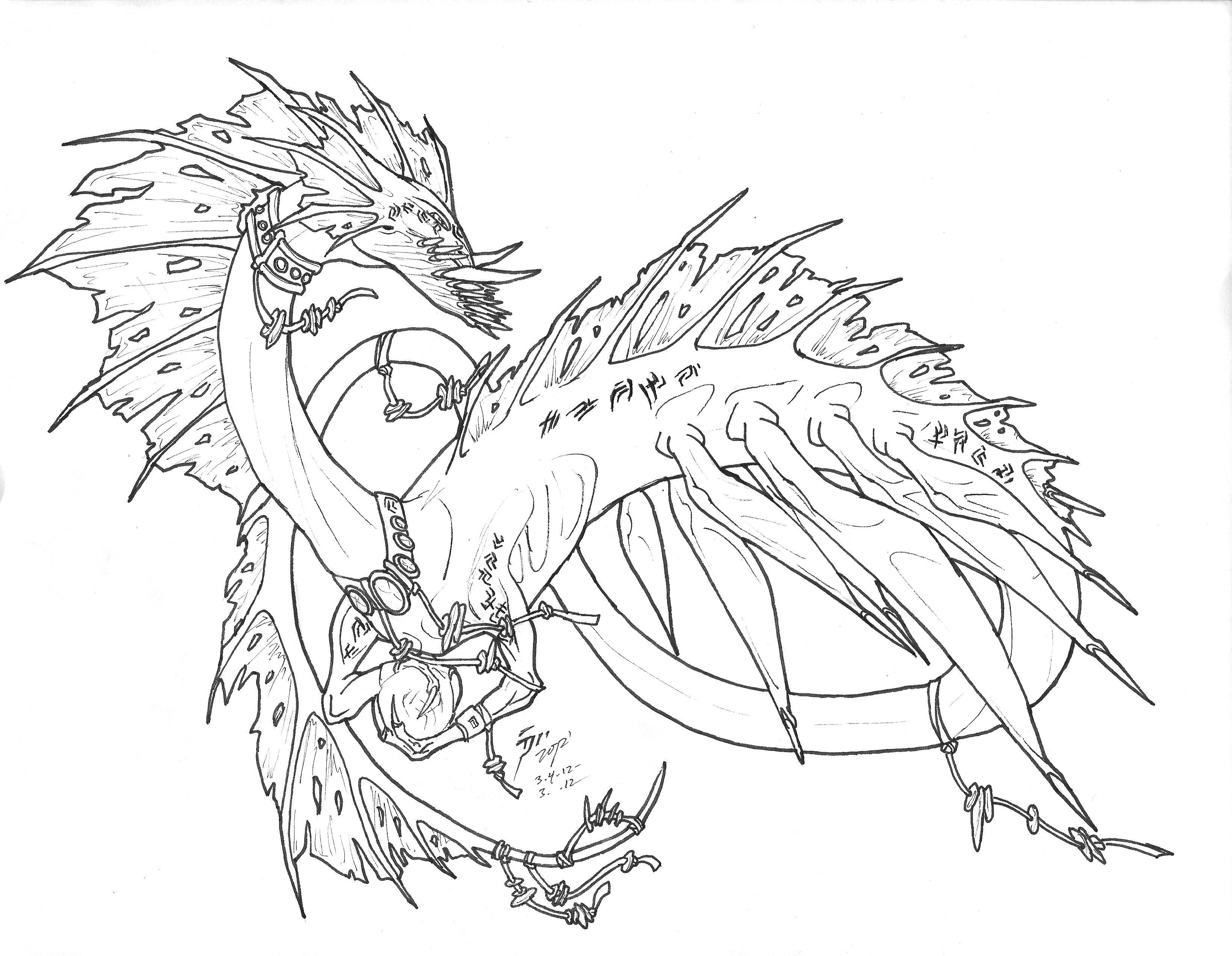 Coloring Pages Sea Serpent Coloring Pages sea serpent inked by tsunami noboru on deviantart noboru