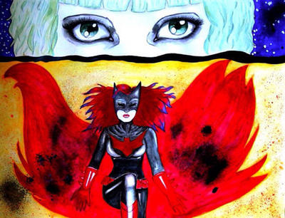 Batwoman and Alice  by suddenlyvenusisme